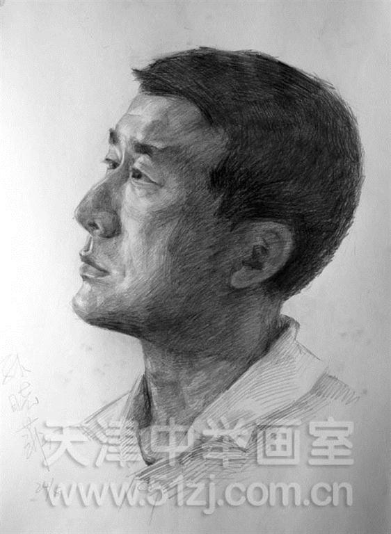 男中年仰视——天津中举画室高考美术资讯网